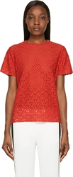 Lanvin Red Lace Poppy Blouse