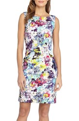 Petite Women's Tahari Floral Scuba Sheath Dress