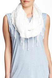 Free Press Floral Lace Infinity Scarf White