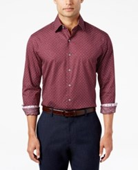 Tasso Elba Men's Printed Shirt Only At Macy's Red Combo