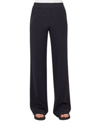 Akris Punto Marla Wide Leg Pants Navy