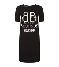 Boutique Moschino Pearl Logo Dress Female Black