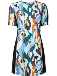 Carven 'Cady' Abstract Print Dress Multicolour