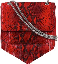 Claudie Pierlot Angela Leather Shoulder Bag Rouge