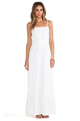 Twelfth St. By Cynthia Vincent Lace Inset Maxi Dress White