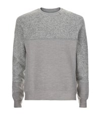 Wooyoungmi Cotton Panelled Sweatshirt Male Light Grey