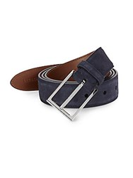Brunello Cucinelli Suede Belt Navy