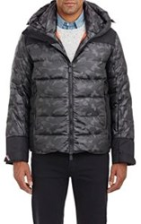 Moncler Grenoble Camouflage Hooded Parka Grey