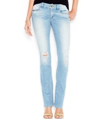 Guess Ripped Bootcut Jeans Military Wash