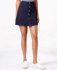 Calvin Klein Jeans Button Front A Line Skirt Rinse
