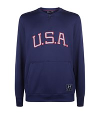 Under Armour Underarmour Usa Half Zip Jacket Male Navy