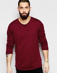 Only And Sons Lightweight Knitted Jumper Red