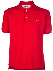 Comme Des Garcons Play Classic Polo Red