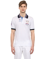 La Martina Cotton Jersey Polo Shirt White