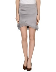 Liu Jo Knee Length Skirts Grey
