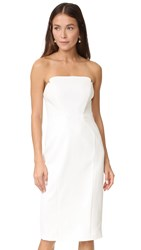 Jill Stuart Strapless Midi Dress Off White
