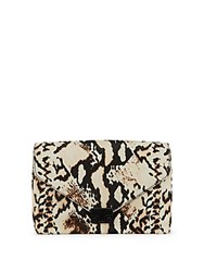 Loeffler Randall Animalia Pattern Calf Hair Crossbody Sling Bag Python