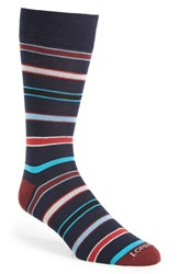 Lorenzo Uomo Men's 'Seven Stripe' Socks