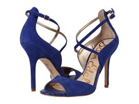 Sam Edelman Audrey Sailor Blue Kid Suede Leather Women's Shoes