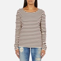 Maison Scotch Women's Long Sleeve Breton T Shirt Multi