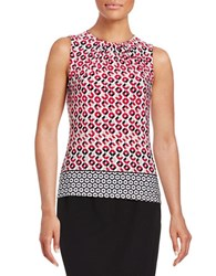 Calvin Klein Plus Border Print Shell Red Multi