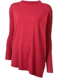 Victor Alfaro Dolman Sleeve Sweater Red