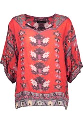 Isabel Marant Stephanie Printed Modal Top Red
