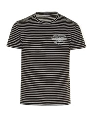 Alexander Mcqueen Breton Striped Logo Print T Shirt Black Multi