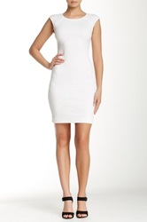 Yigal Azrouel Sleeveless Engineered Jacquard Knit Dress White