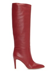 Gianvito Rossi Dana Heeled Knee High Boots Red