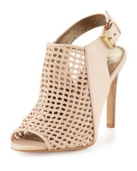 Cynthia Vincent Francine Woven Leather Slingback Sandal Nude