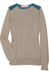 Marni Color Block Cashmere Blend Sweater