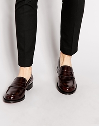 Rolando Sturlini Classic Leather Loafers Red