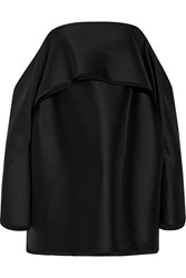 Dion Lee Off The Shoulder Wool Blend Shantung Mini Dress Black