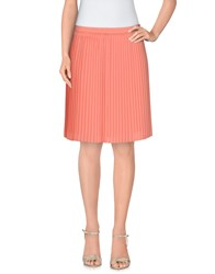 Armani Jeans Skirts Knee Length Skirts Women Salmon Pink