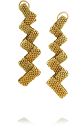 Fred Leighton 1960S 14 Karat Gold Mesh Clip Earrings