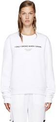 Off White 'I Only Smoke When I Drink' Pullover