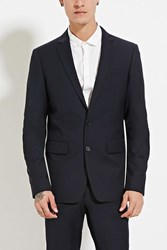 Forever 21 Two Button Suit Jacket Navy