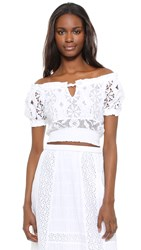Temptation Positano Short Sleeve Crop Top White