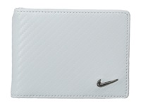 Nike Carbon Fiber Texture Billfold White Bill Fold Wallet