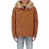 Mr And Mrs Italy Men's Fur Lined Hooded Parka Brown