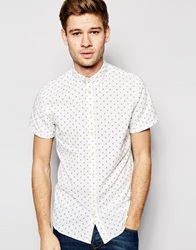 Blend Of America Blend Shirt Short Sleeve Button Down All Over Print Offwhite