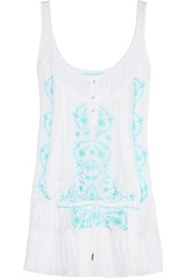 Melissa Odabash Jaz Embroidered Muslin Mini Dress