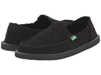 Sanuk Donna Knit Stitch Black Women's Slip On Shoes