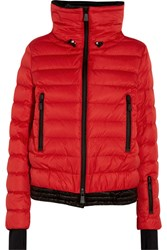 Moncler Grenoble Vonne Hooded Quilted Down Jacket Red