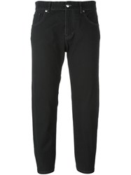 Maison Martin Margiela Mm6 Cropped Jeans Black