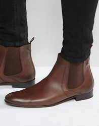 Base London Forbes Leather Chelsea Boots Brown