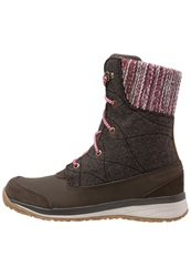 Salomon Hime Mid Winter Boots Absolute Brown Light Grey Dark Brown