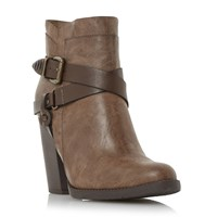 Head Over Heels Posey Strappy Western Boots Tan