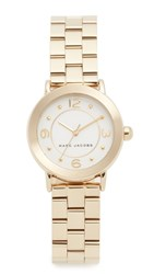 Marc Jacobs Small Riley Watch Gold White